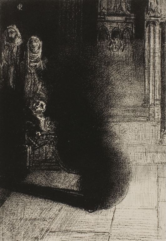 Odilon Redon French, 1840-1916 Frontispiece for Les Flambeaux noirs by Emile Verhaeren, 1890
